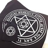 タロットクロス ヘキサグラム 六芒星 ソロモンの印 共布ポーチ付 占い 魔術 魔法 【WL Products】TC01