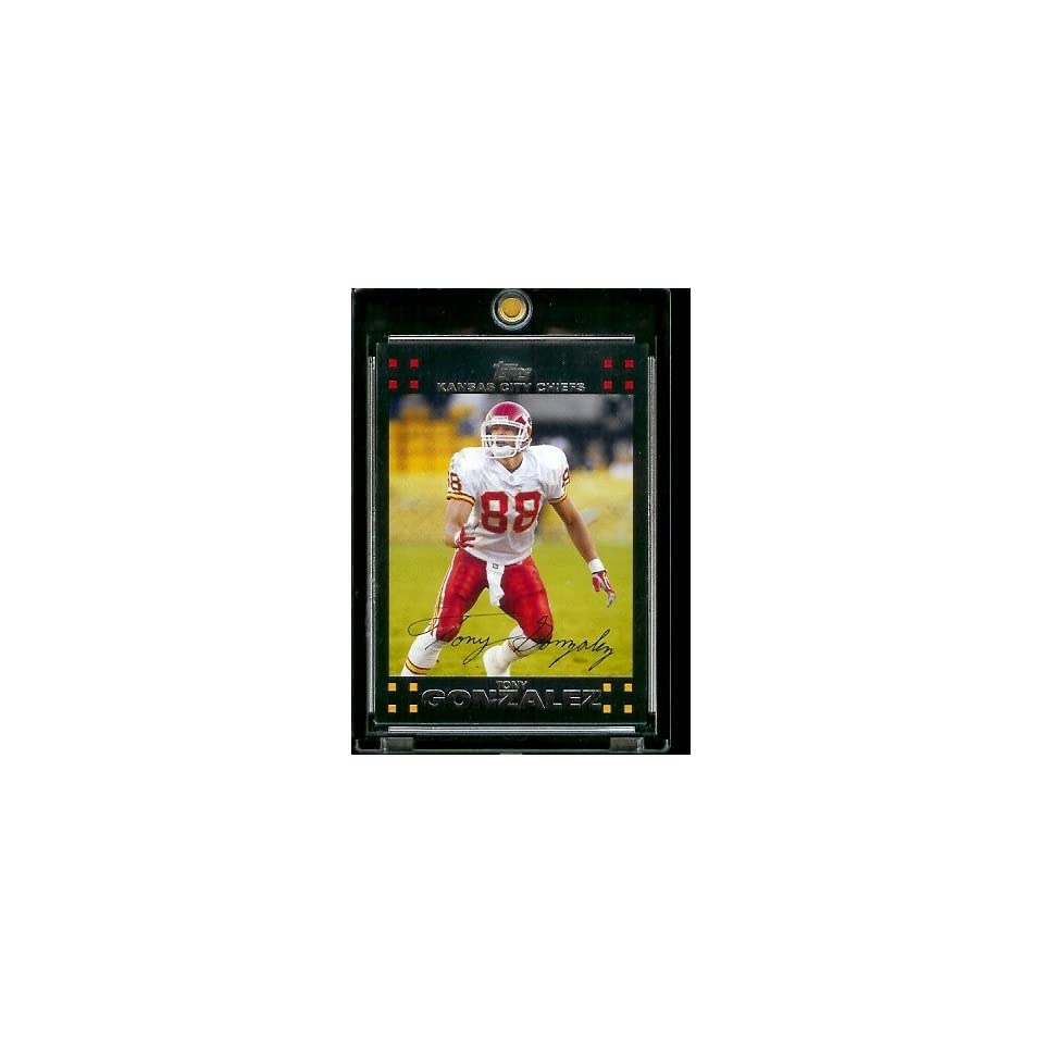 2007 Topps Football # 204 Tony Gonzalez   Kansas City Chiefs   NFL Trading Cards
