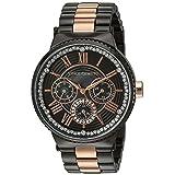 Vince Camuto Women's VC/5311RGTT Swarovski Crystal Accented Rose Gold-Tone and Gunmetal Bracelet Watch