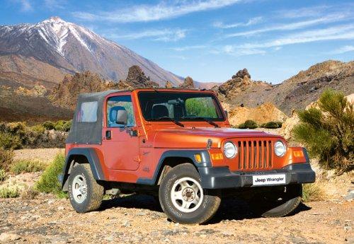 Puzzle 1000 Teile Jeep Wrangler - Castorland Auto Landschaft rot Fahrzeug Geländewagen Gelände Autos