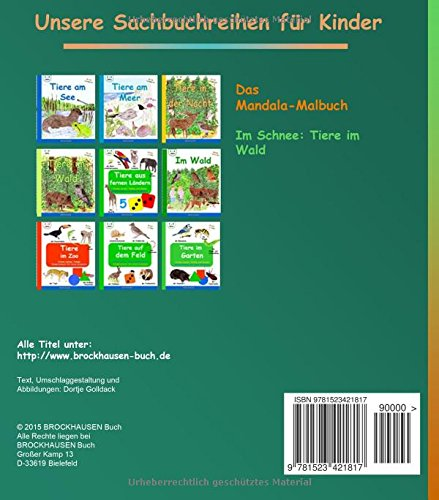 BROCKHAUSEN Malbuch Bd. 5: Das Mandala-Malbuch: Im Schnee: Tiere im Wald: Volume 5