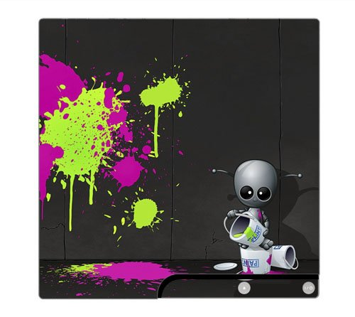 Baby Robot Decorative Protector Skin Decal Sticker for PlayStation 3 PS3 SLIM Console