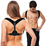 PLYO-TEC Premium Back Support Posture Corrector Brace Trainer for Men & Women, Providing Relief from Neck Pain, Back Pain, Shoulder Pain & Bad Posture