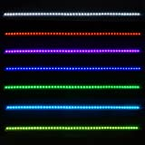 """1 Complete Set 22"""" Universal Fit Knight Rider Scanning 7 Color Super Bright 5050 SMD 48 Running RGB LED Bar Strip Third Brake Light With Wireless Sound Remote Control + Control Module For Under Seat Glove Box Front Lower Center Grille"""