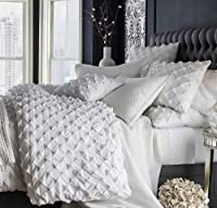 White cotton duvet cover king & queen size puckered.