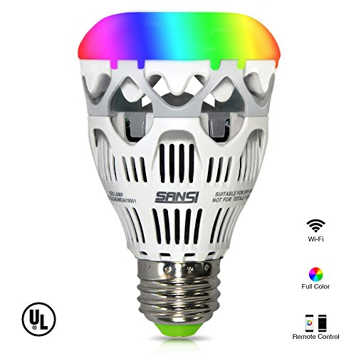 LOFTEK-SANSI 10W RGBW light Bulbs, Wifi Smart Led Bulbs, 800 lumen dimmable colorful party lighting with APP control function (Wi Fi Light Bulbs compare prices)