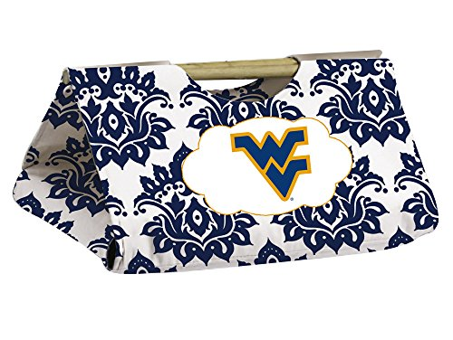 West Virginia Mountaineers Damask Pattern Casserole Dish Carrier front-757695