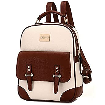 Amazon.com: British Style Vintage Backpack School Bag: Clothing