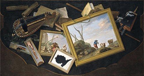 oil-painting-flipart-charles-joseph-mesa-revuelta-con-pinturas-zanfonia-libros-y-otros-objetos-en-tr