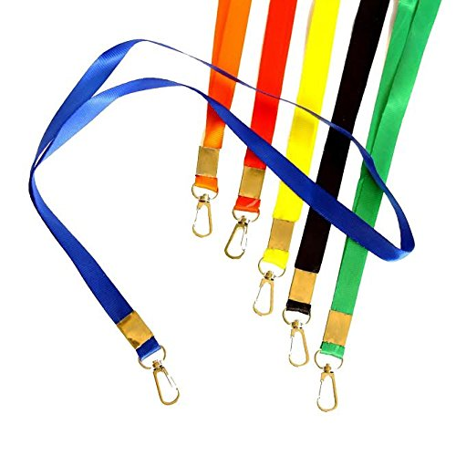 Dazzling Toys Bright Lanyards 12 Pieces Durable Nylon Neck ID Name Tag Straps