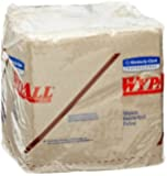 """Wypall 47000 L20 1/4-Fold Wipers, 12.5"""" Length x 13"""" Width, Brown (12 Packs of 68)"""