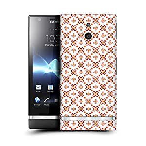 MobileGlaze Designs Anise Star Pattern Big Plus Hard Back Case Cover for SONY XPERIA P LT22i
