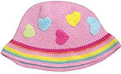 snuggleheads Baby Girls' Sweet Hearts Knit Hat 1-4 Year Pink