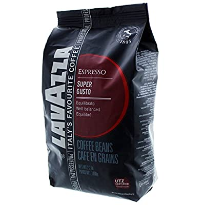 Lavazza Coffee Espresso Super Gusto, Whole Beans, 1000g