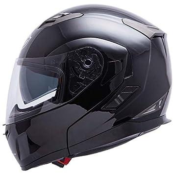 Casque moto modulable MT FLUX - Double écran - Noir