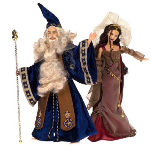 Barbie Magic & Mystery Collection; Merlin and Morgan le Fay Doll Set by Mattel