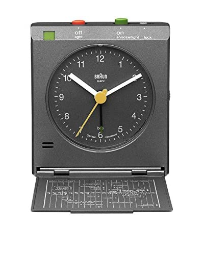 Braun Reflex Control Travel Alarm Clock, Grey