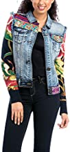 Desigual Women's Denim Jacket Polo Long sleeve Jacket