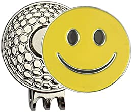 Magnetic Nickel Golf Hat Cap Clip with Smile Golf Ball Marker