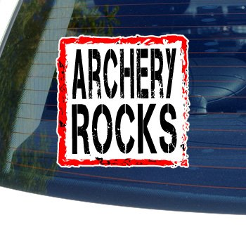 Archery Rocks - Window Bumper Laptop Sticker