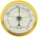 Quality Importers Analog Hygrometer, 1-3/4-Inch Round Glass Analog Hygrometer for Humidors