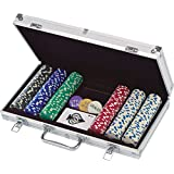 300 Ct. Poker Chips 11.5 gram in Aluminum Case (styles will vary)