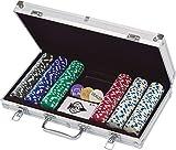 300 Ct. Poker Chips 11.5 gram in Aluminum Case (styles will vary)