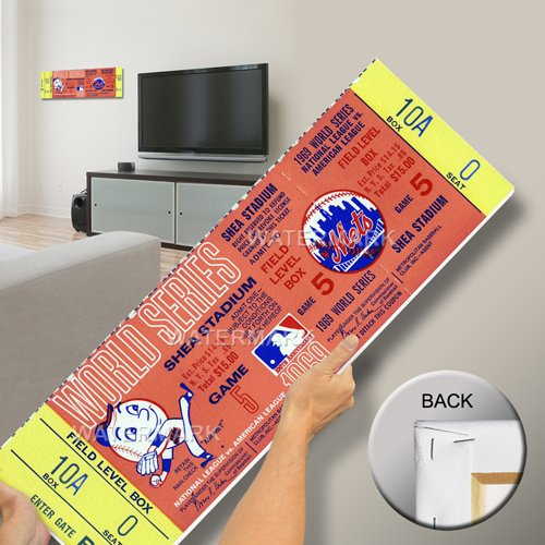 That's My Ticket 1969 World Series Mega Ticket Wall Decor, New York Mets (Ny Mets Tickets compare prices)