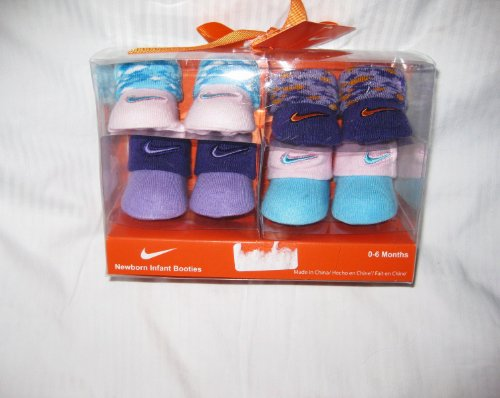 4-pairs Nike Air Jordan Newborn Infant Baby Booties Socks Crib Shoes 0-6m Baby Christmas Gift