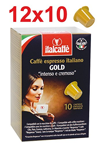 Purchase 120 Italcaffe Gold Coffee Pods Capsules, Nespresso Compatible - Italcaffè S.p.A.