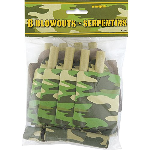 Camo Party Blowers, 8ct - 1