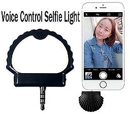 Mobile Flash Light YEYIZU® Voice Control Selfie Light Phone Selfie Light Voice Photograph Synchronous Fill Light (Black)