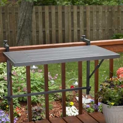 Outdoor Great Room GSRM Deck-Rail-Mounting Electric-Grill Shelf, Dora Brown