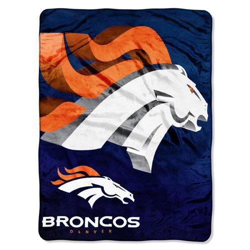 "Nfl Denver Broncos 60-Inch-By-80-Inch Micro Raschel Blanket, ""Bevel"" Design front-141299"