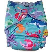 CDS FAP3.0 Organic Cotton All in One cloth Diaper with Pocket (Explore the sea)