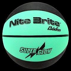 Buy Baden Sports Nite Brite Glow in the Dark Rubber Basketball by Baden