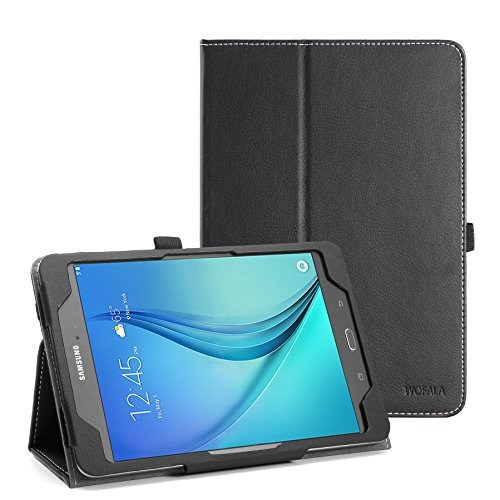 WOFALA Samsung Galaxy Tab A 8.0 Case – Ultra Slim Lightweight Smart Cover Stand Case With Auto Sleep/Wake Feature For Samsung Galaxy Tab A Tablet (8.0 inch Display, 2015 Version)-Black