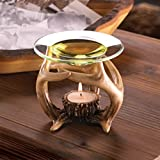 Chongfu 4 bulk lot Deer antler Hunting Wax Tart warmer Oil diffuser candle holder burner