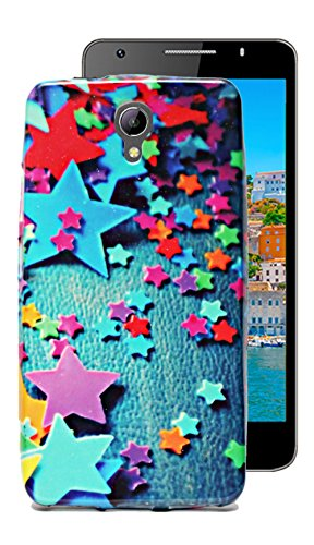 ECellStreet Sparkle Printed Soft Back Case Cover Back Cover For Intex Aqua Star 2 - Stars