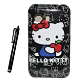 Hunye 2 in 1 Hello Kitty Design Hard Plastic Case Cover for Samsung Galaxy Y S5360 With Stylus Pen(#3)