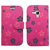 SAMRICK Executive Floral Flowers Specially Designed Leather Book Wallet Case for Samsung S7580 Galax