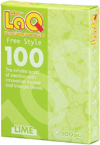 Original Laq Puzzle Play Set Free Style 100 Lime Pc -Affordable Gift for your Little One! Item #DLAQ-000484 - 1