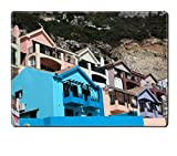 MSD Natural Rubber Placemat Kitchen Table 15.8 x 12 x 0.2 inches IMAGE ID 19532849 Colorful buildings of La Caleta village in Gibraltar Reviews
