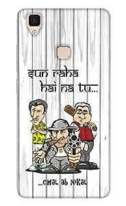 Print Haat Back Cover for Vivo V3 (Multi-Color)