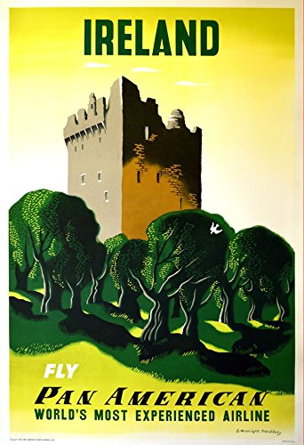 pan-am-ireland-wonderful-a4-glossy-art-print-taken-from-a-rare-vintage-travel-poster