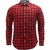 Original Penguin Long Sleeve Check Shirt Red Red