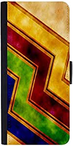 Snoogg Storm Wave 2389 Graphic Snap On Hard Back Leather + Pc Flip Cover Moto-X