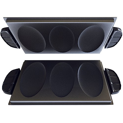 George Foreman GFP84OP Evolve Grill 3-Serving Omelet and Snack Plate Accessory Set, Black (George Foreman Iii compare prices)