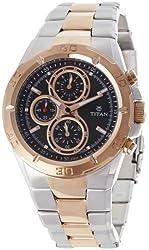 Titan Octane Analog Black Dial Mens Watch - N9308KM02