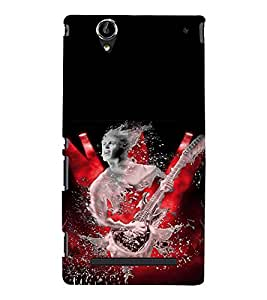 Man with Guitar Back Case Cover for Sony Xperia T2